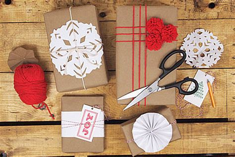 Craft Paper Wrapping Ideas - stylish gift wrap ideas