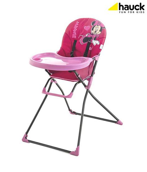 Pink High Chairs by Hauck Mac Baby V Minnie Pink High Chair Buy Hauck Mac