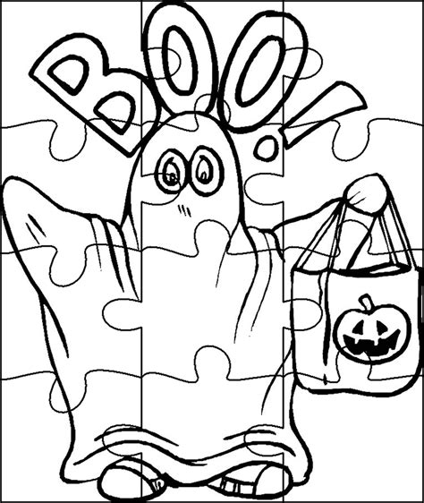 Halloween Coloring Pages And Puzzles | halloween puzzles coloring pages coloring home