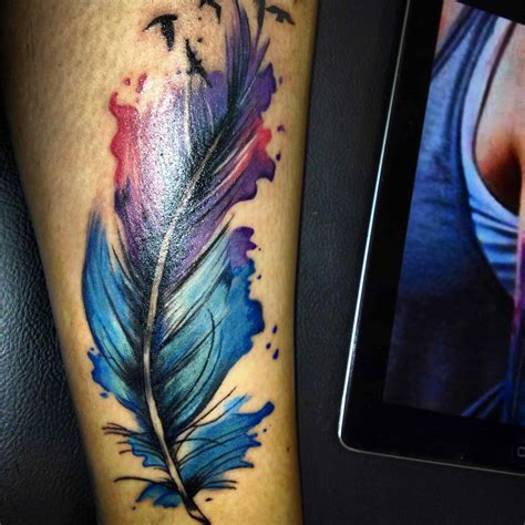 coloured feather tattoo designs colorful feather tattoos t t colorful