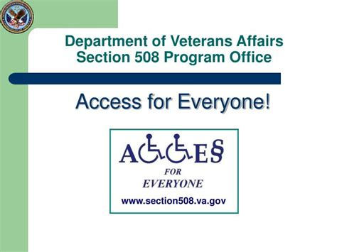 Department Of Affairs Judicial Section by Ppt Department Of Veterans Affairs Section 508 Program