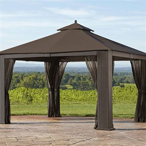 Ty Pennington Parkside 10 X 12 Wicker Gazebo Outdoor Outdoor Furniture Gazebo