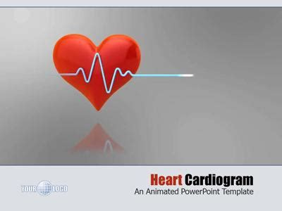 Heart Cardiogram A Powerpoint Template From Presentermedia Com Cardiac Powerpoint Template