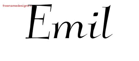 tattoo ideas for the name emile emil archives page 2 of 2 free name designs