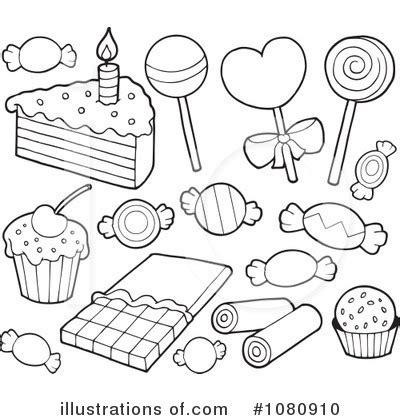 dessert coloring pages desserts clipart 1080910 illustration by visekart