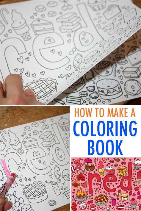 create a picture book make your own coloring book free tutorial
