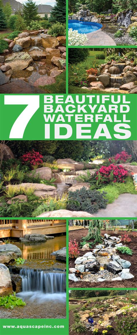 backyard waterfalls ideas 7 beautiful backyard waterfall ideas