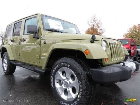 commando green jeep commando green 2013 jeep wrangler unlimited sahara 4x4