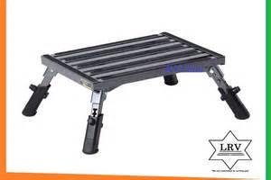 rv step stool platform w adjustable height aluminum