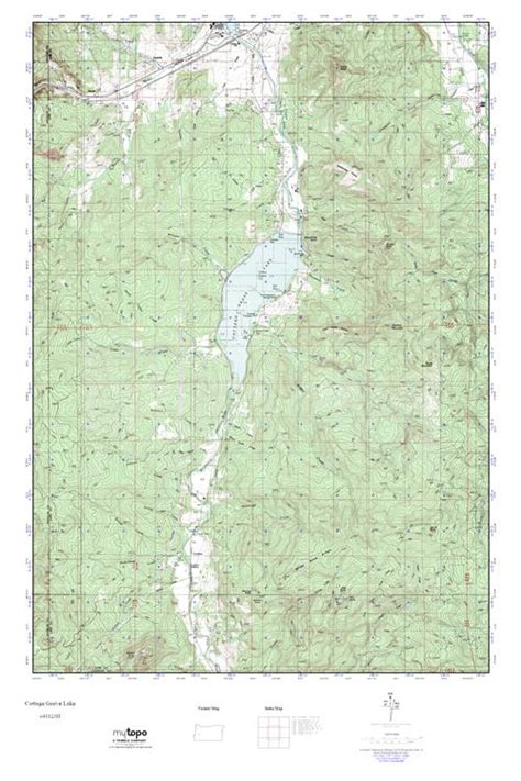 cottage grove oregon map mytopo cottage grove lake oregon usgs topo map