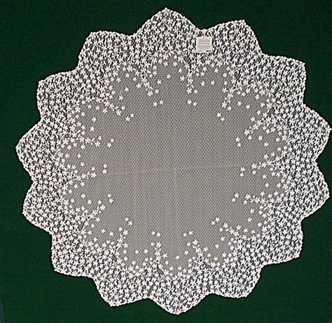 table topper blossom white 42 lace table topper