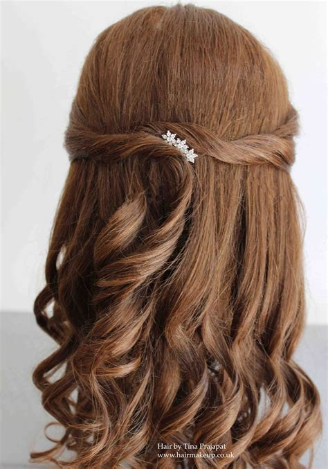 easy hairstyles for hair down half up half down hair ideas for brides and special