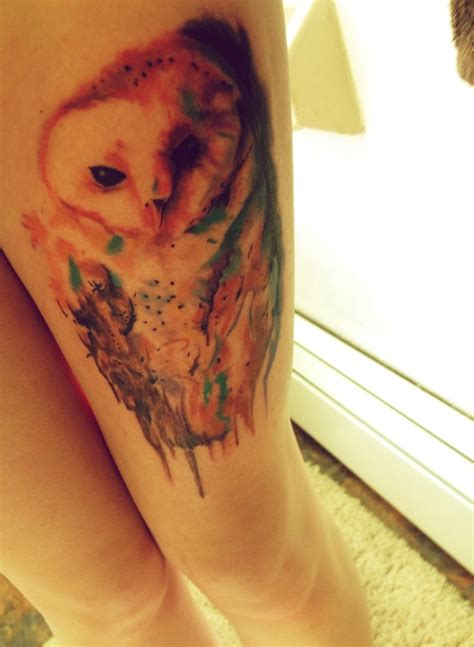 watercolor tattoos with words watercolor owl words watercolor