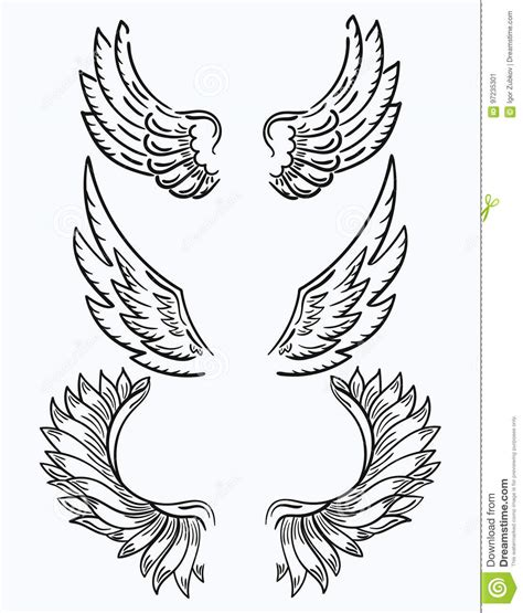 black and white angel wings tattoo designs set of wings collection of black and white wings for