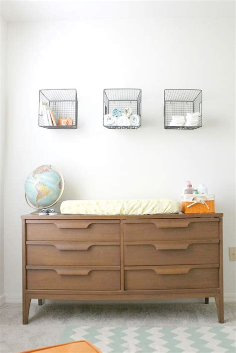 baskets for changing table dresser changing table baskets above for masculine