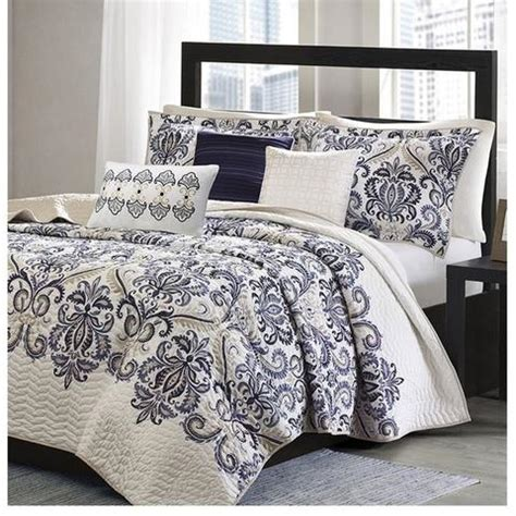 navy blue and white bedding mesa navy blue and white damask quilt bedding set sky iris