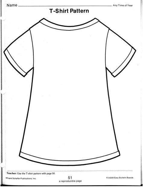 t shirt pattern printable tshirt template to write on for back to school night
