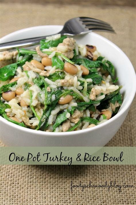 ground turkey and rice recipes easy one pot turkey and rice bowl foody schmoody foody