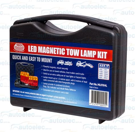 magnetic boat trailer lights led portable trailer light kit towing magnetic stop tail