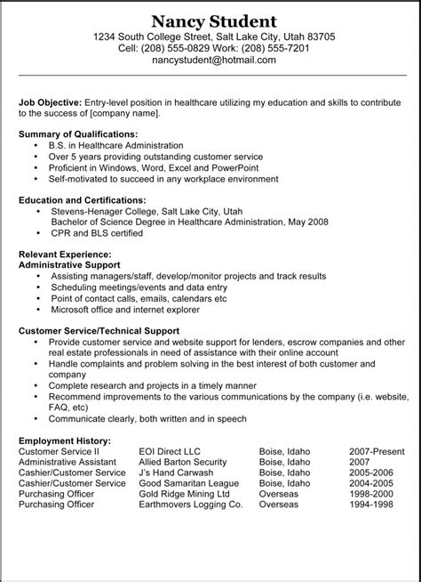 resume templates exles 7 sleek sle resume templates sles and templates