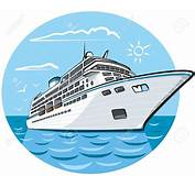 Cruise Ship Clipart Cartoon  Pencil And In Color