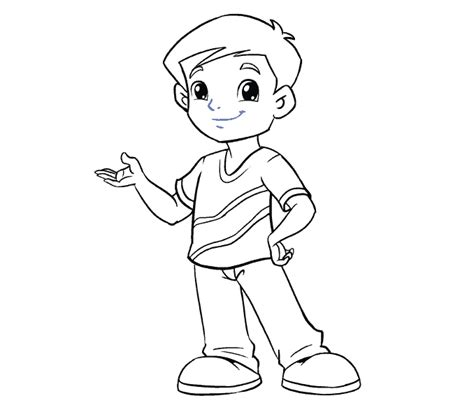 how to draw a boy a boy standing drawing www pixshark images