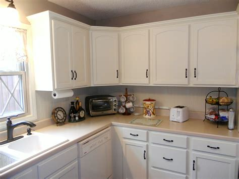 Painted Old Kitchen Cabinets by Antique White Painted Kitchen Cabinets After Jan 2016 05