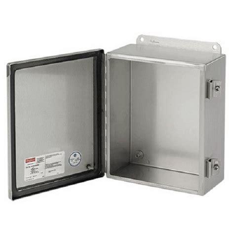 Box Panel Stainless Steel Indoor 17108 a1412chnfss 14 quot x12 quot x6 quot nema 4x hoffman pentair