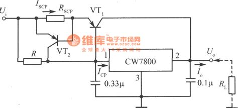 integrated circuit output the large current output integrated stabilized power supply circuit composed of cw7800 2