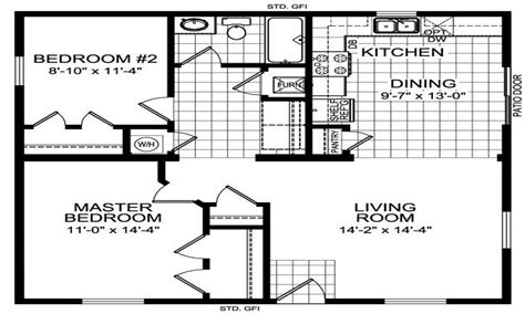 home design 20 x 40 2 x 20 galvanized pipe 2 bedroom 20 x 40 floor house