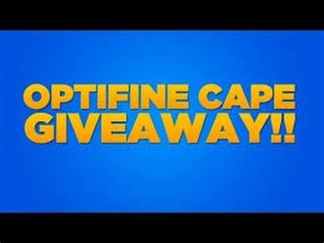 Optifine Cape Giveaway - full download free optifine cape giveaway scam