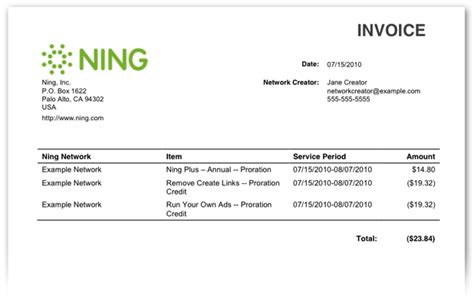 invoice template for services rendered making billing easier for network creators ning blog