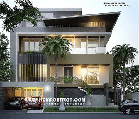 desain rumah mewah hook   lantai modern minimalis peruntukan fungsi lantai atap sebagai