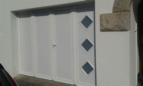 porte garage pvc porte de garage battante et portillon int 233 gr 233 ouverture 224