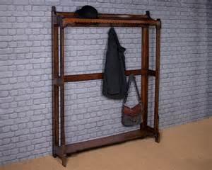 Hallway Coat Rack by Oak Hallway Coat Rack C 1905 Antiques Atlas