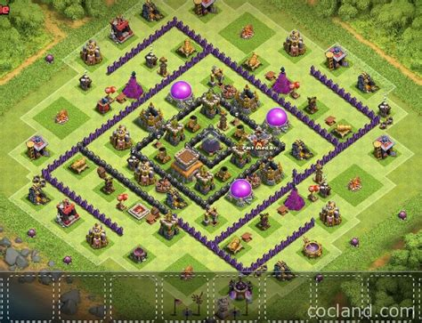 layout for th8 2016 01 03 clash of clan helps