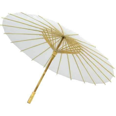 Paper Umbrella - 22 quot white paper parasol 48 363 mardigrasoutlet