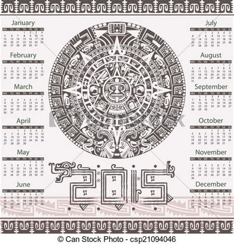 What Does Calendario In Eps Vector De 2015 Calendario Azteca Vector