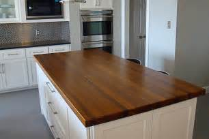 Island Countertop by Afromosia Wood Countertop Photo Gallery By Devos Custom