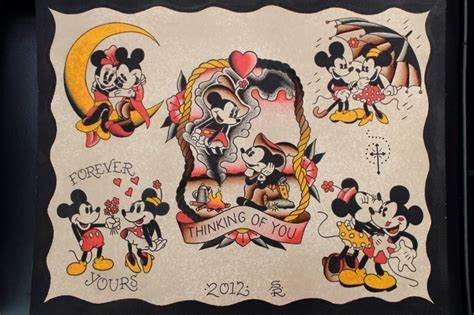 mickey mouse tattoo flash by steve rieck las vegas art