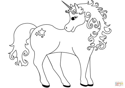 lovely unicorn coloring page free printable coloring pages