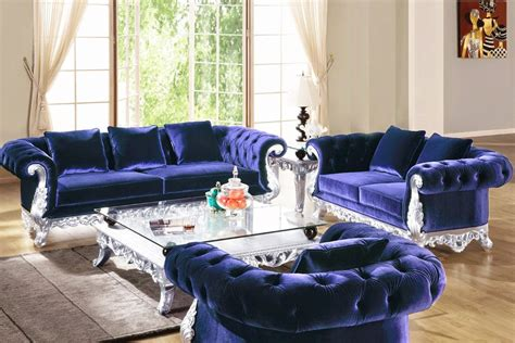 Blue Velvet Living Room Set Modern House Velvet Living Room Furniture