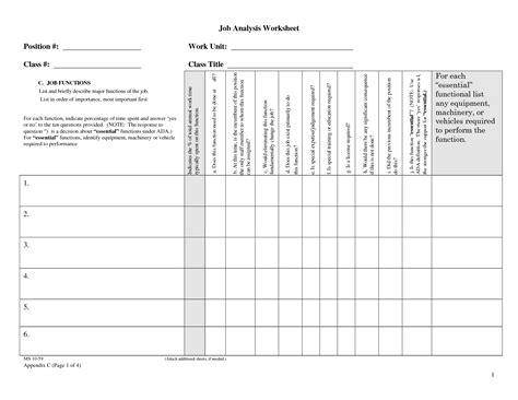 16 Best Images Of Jobs And Tools Worksheet Free Printable Career Worksheets Job Career Task Analysis Worksheet Template