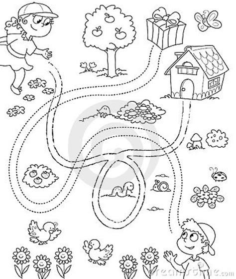 drawing on the finding my way by books coloring for children royalty free stock images