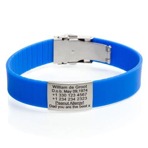 SOS armband Blauw   Icetags SOS armbanden