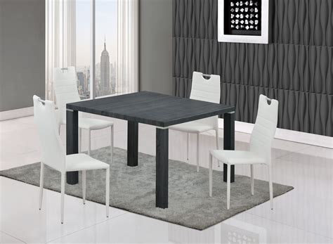 dining table d733dt grey wood by global furniture
