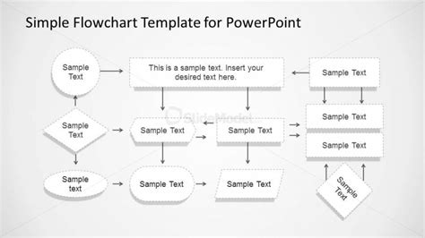 simple flowchart with dotted stroke for powerpoint