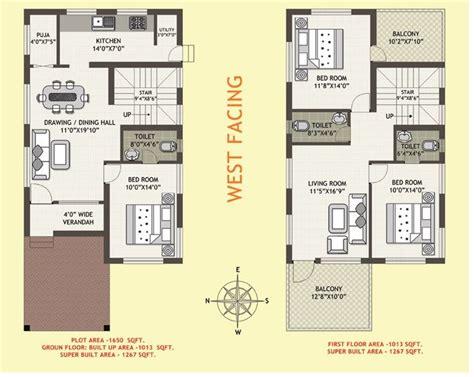 west facing house plans  vastu  face floor plan