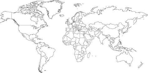 blank political map  world  travel information
