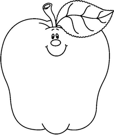 apple clipart coloring page fruit coloring pages and printables crafts and